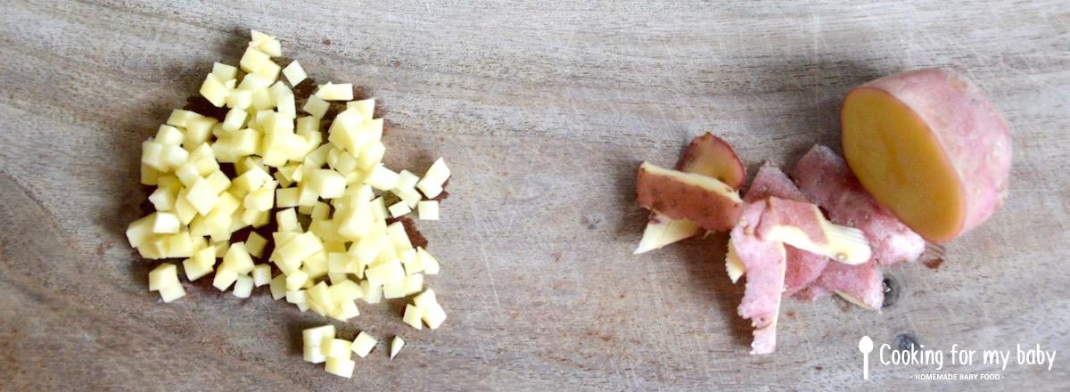 Recette de potage cr meux aux l gumes poulet riz sauvage pour b b d s 10 mois cooking for - Pomme de terre coup de soleil ...