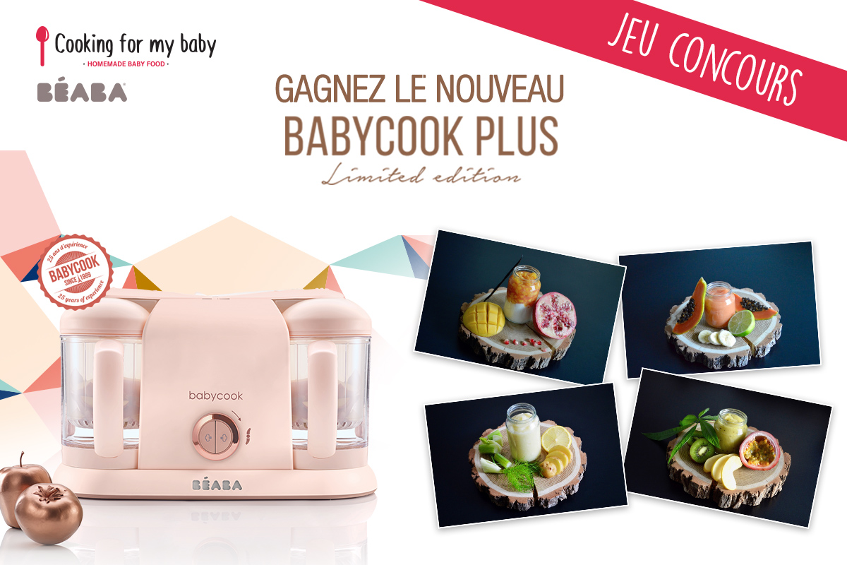 Jeu concours Béaba et Cooking for my baby pour gagner le Babycook Plus limited Edition