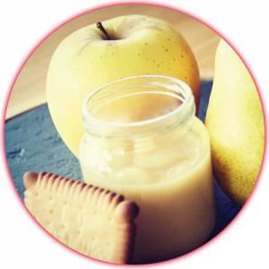 Recette bébé : Compote pomme poire biscuit