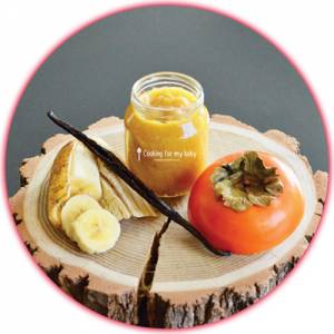 Recette bébé : Compote kaki banane vanille