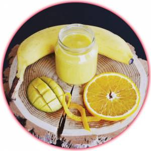 Recette bébé : Compote mangue orange banane