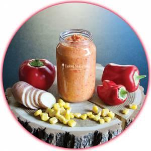 Recette pour bébé : Purée poivron maïs pomme de terre