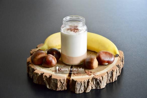 Recette de Milk-shake à la banane et crème de marron au cacao pour bébé (Dès 18 mois)