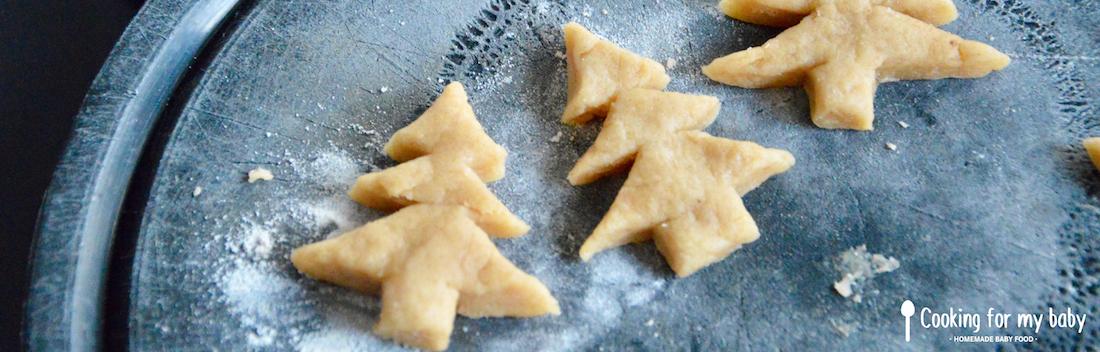 Biscuits sapin de Noël pour bébé