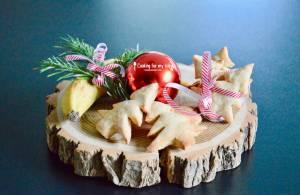 """Recette de biscuits à la banane """"Sapin de Noël"""" pour bébé (Dès 9 mois)"""