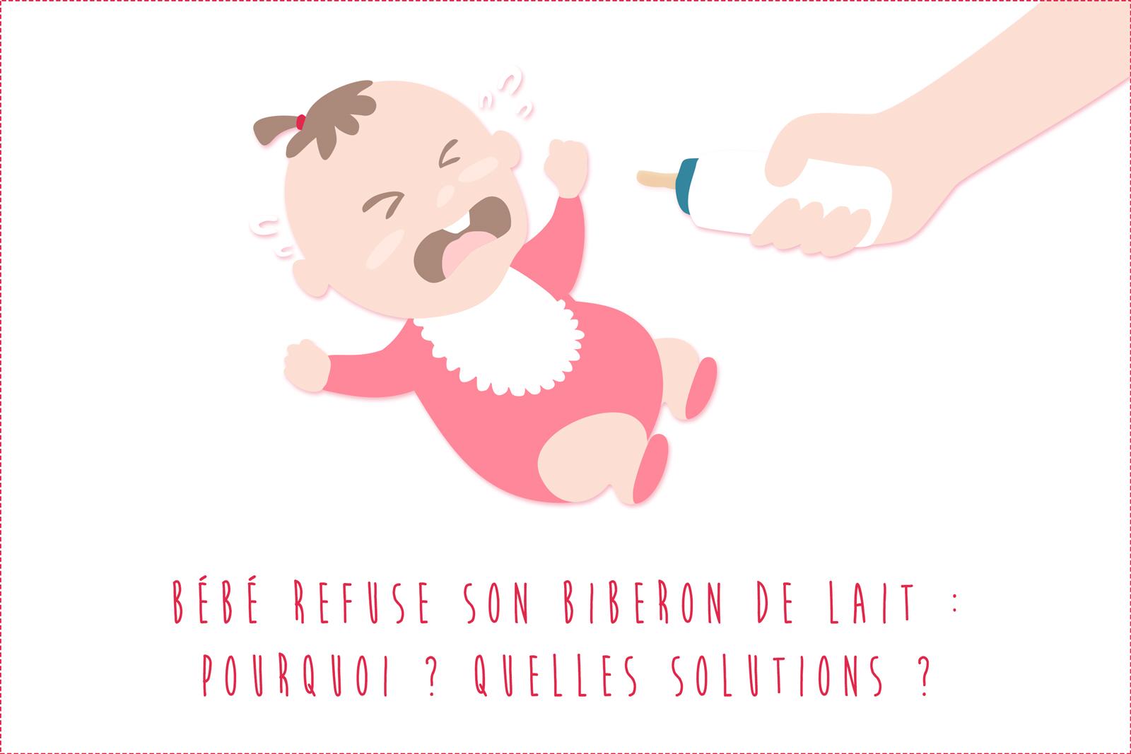 Bébé ne veut plus boire son biberon de lait