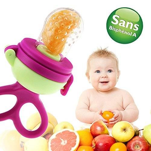 Grignoteuse en Silicone pour bébé - Découverte des aliments
