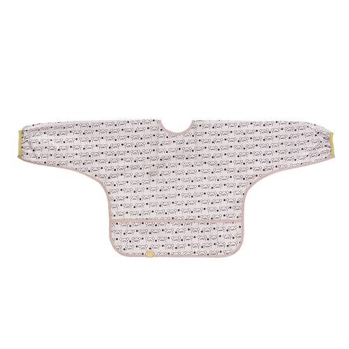 Lässig - Bavoir manches longues avec poche pour bébé de 6 à 24 mois (Plusieurs coloris disponibles)