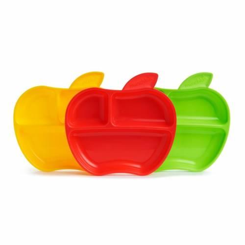 Munchkin - 3 Assiettes petite pomme pour bébé