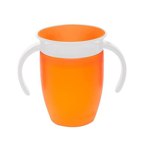 Munchkin - Tasse miracle 360ᵒ d'apprentissage pour bébé - orange - 207ml
