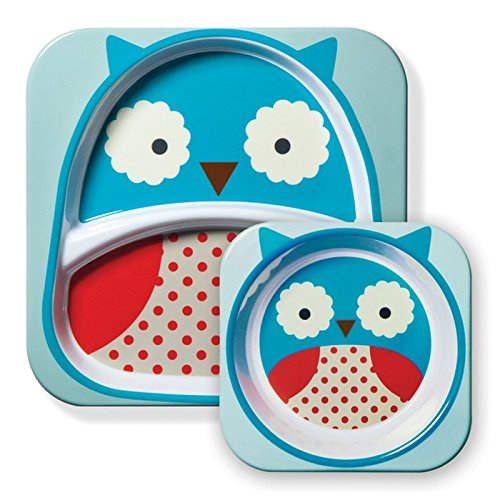 Skip Hop - Kit assiette + bol Hibou pour bébé