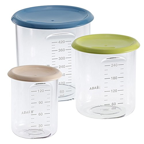 BÉABA Lot de 3 pots de conservation - 120 ml, 240 ml, 420 ml