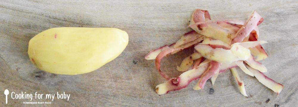Pomme de terre pour les galettes (Röstis) pour bébé
