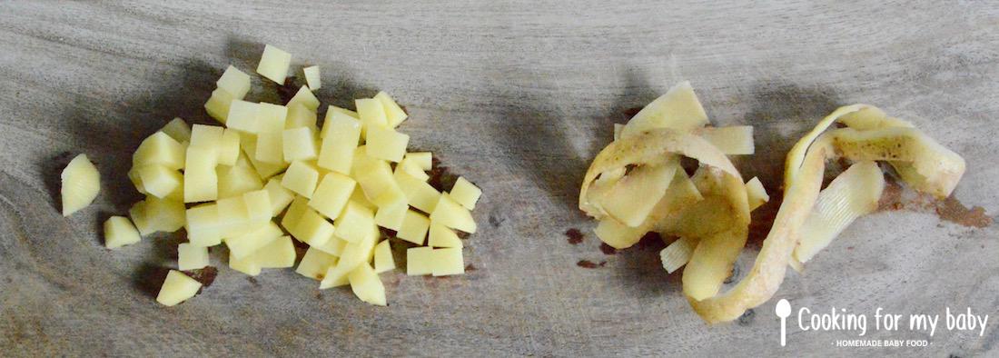 Pomme de terre pour la tartiflette pour bébé