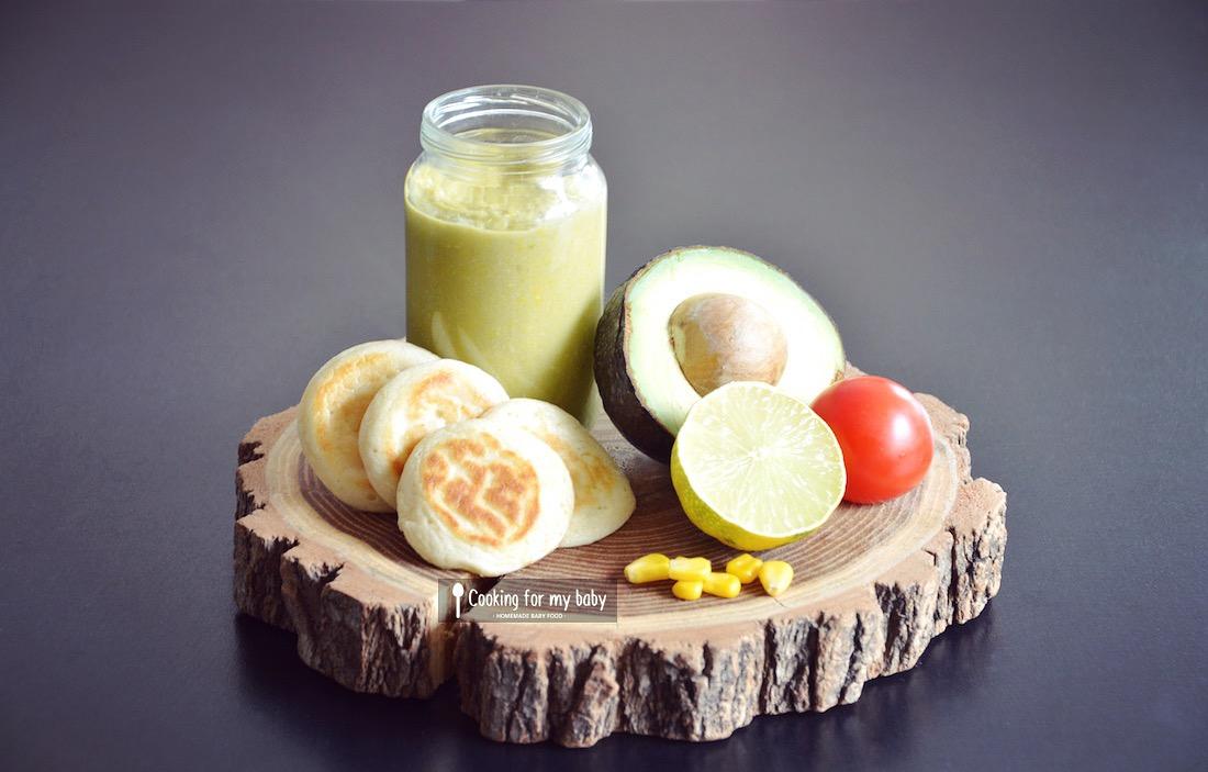 Recette de guacamole poulet maïs cheddar pour bébé (Dès 8 mois)