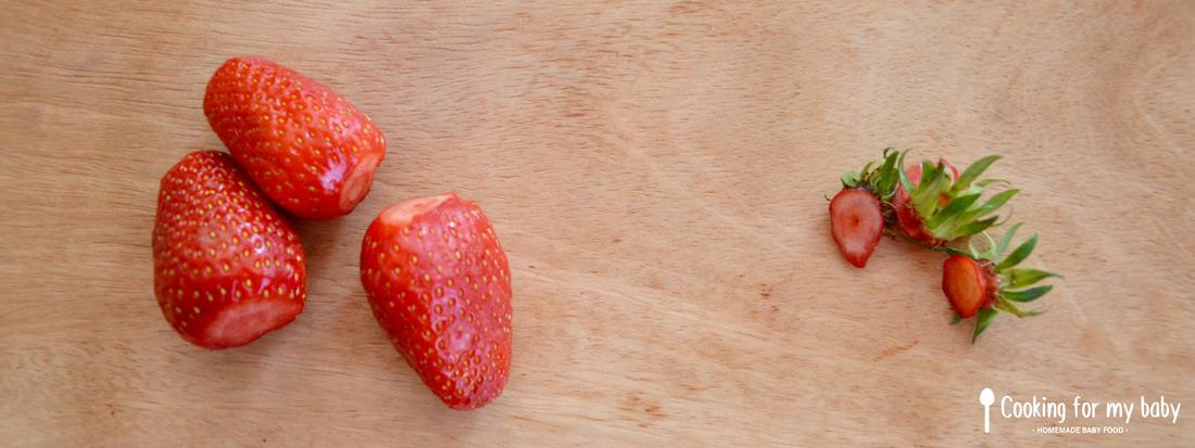 fraises Gariguette pour bébé