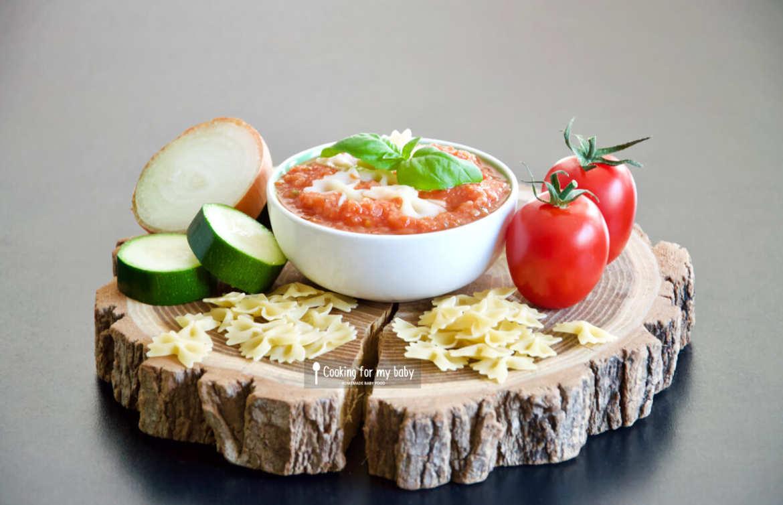 Recettes de pâtes à la sauce tomate express pour bébé (Dès 8 mois)