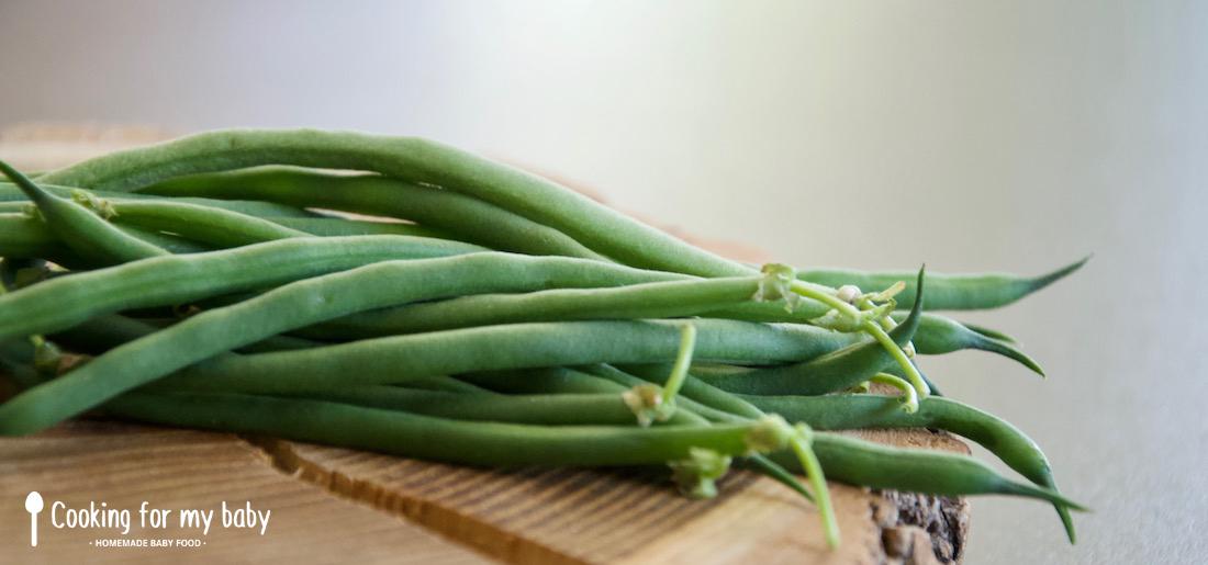 Haricots verts pour bébé