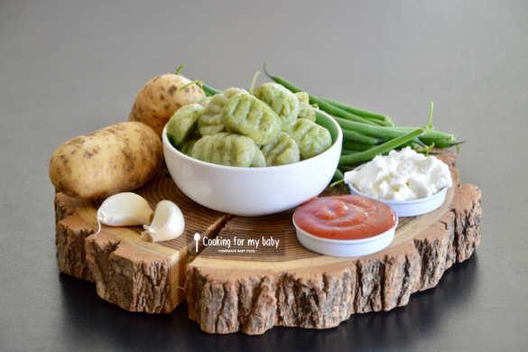 Recette de gnocchis de haricots verts pour bébé (Dès 11 mois)