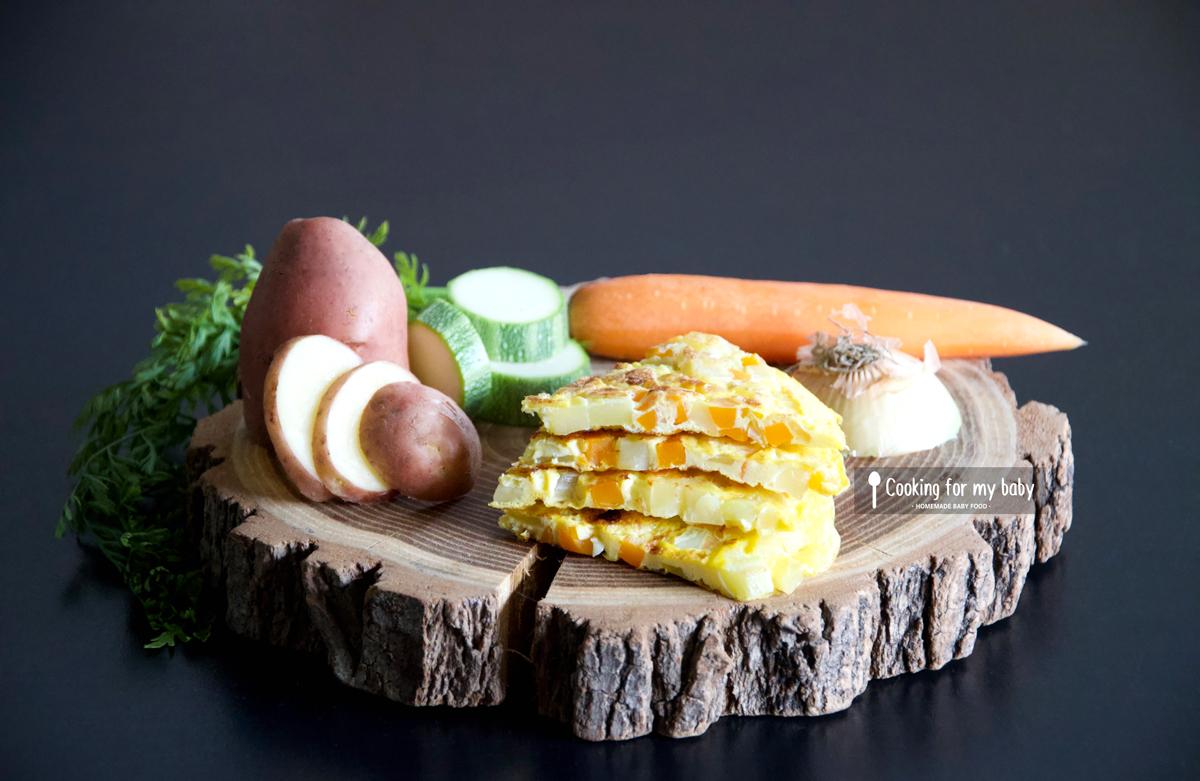Recette de tortilla de légumes pour bébé (Dès 10 mois)