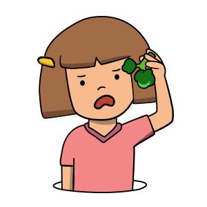 Mon enfant n'aime rien, n'aime pas les légumes