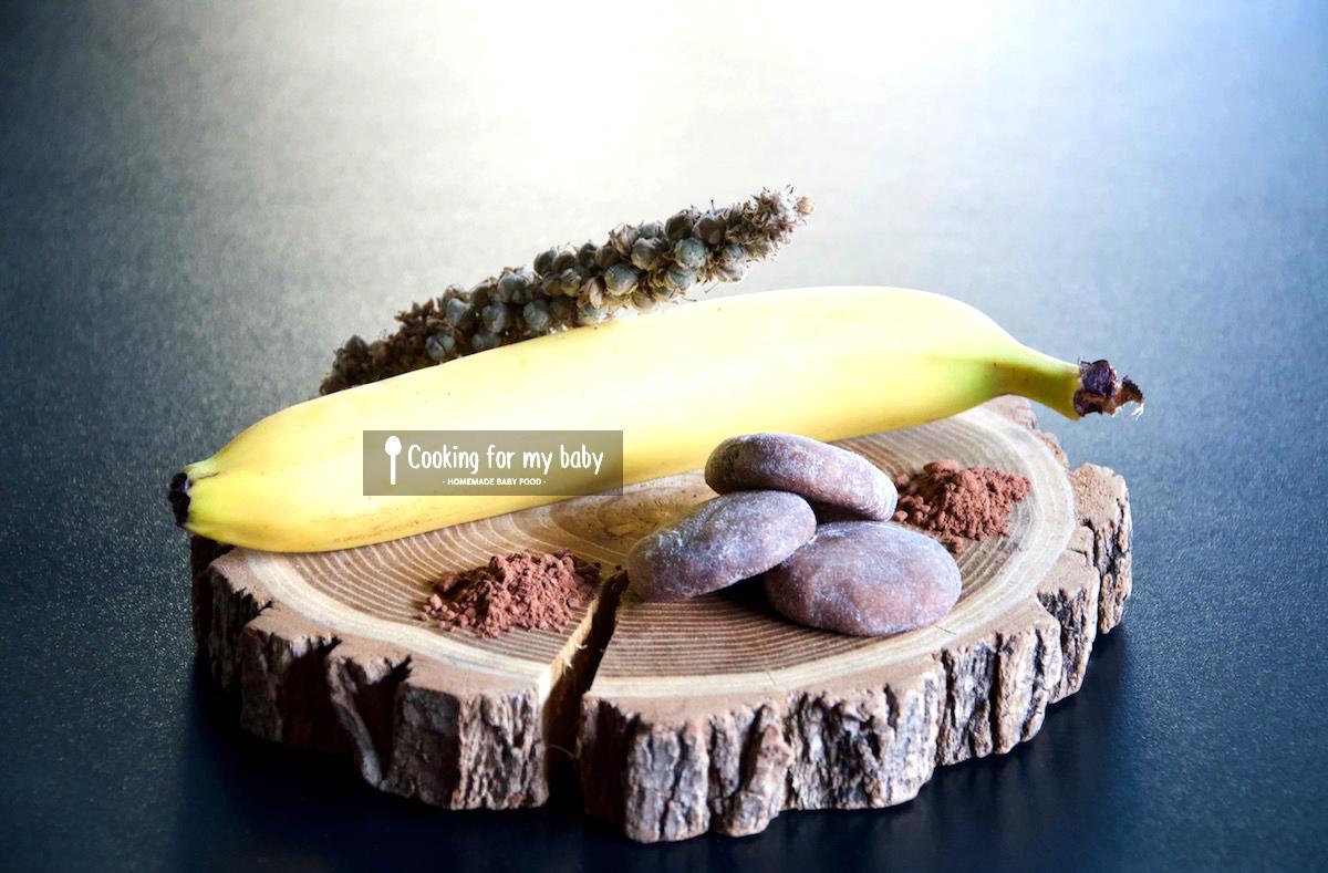 Recette de biscuits moelleux choco-banane pour bébé (sans oeuf/lait/sucre, dès 11 mois)
