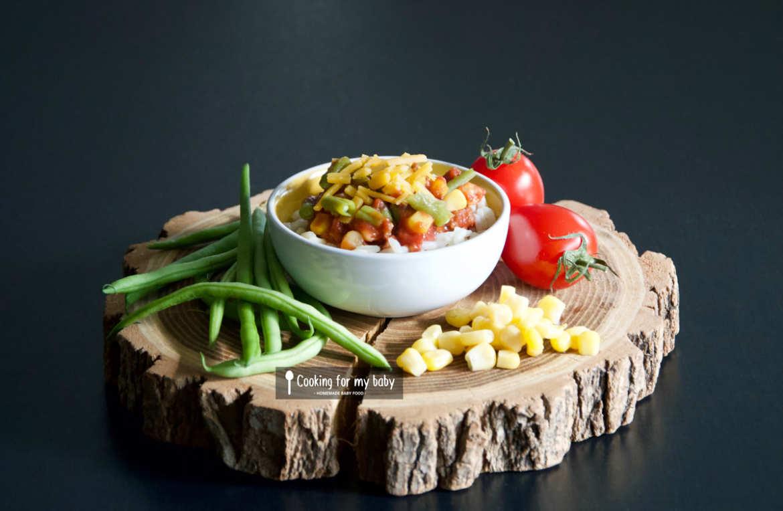Recette chili con carne haricots verts pour bébé