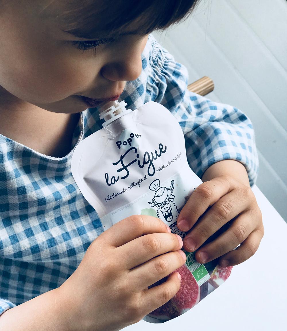 Alimentation bio pour bébé : Popote, gourde de figue