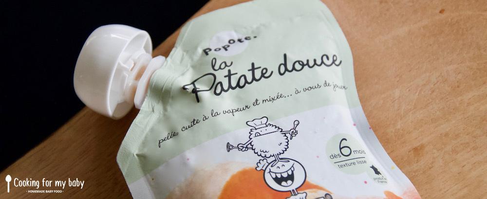 Gourde patate douce Popote pour recette d'Halloween pour bébé