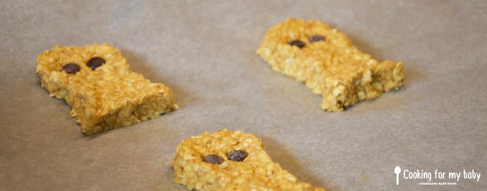 Recette de cookies halloween avoine patate douce et chocolat pour bébé