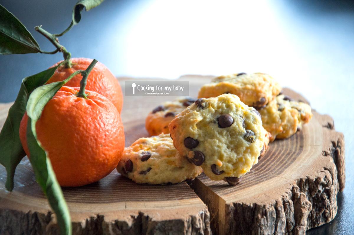 Recette de cookies de Noël chocolat clémentine pour bébé (Dès 12 mois, sans oeuf)