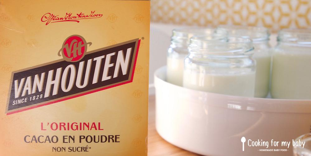 Cacao Van Houten pour yaourts maison pour bébé