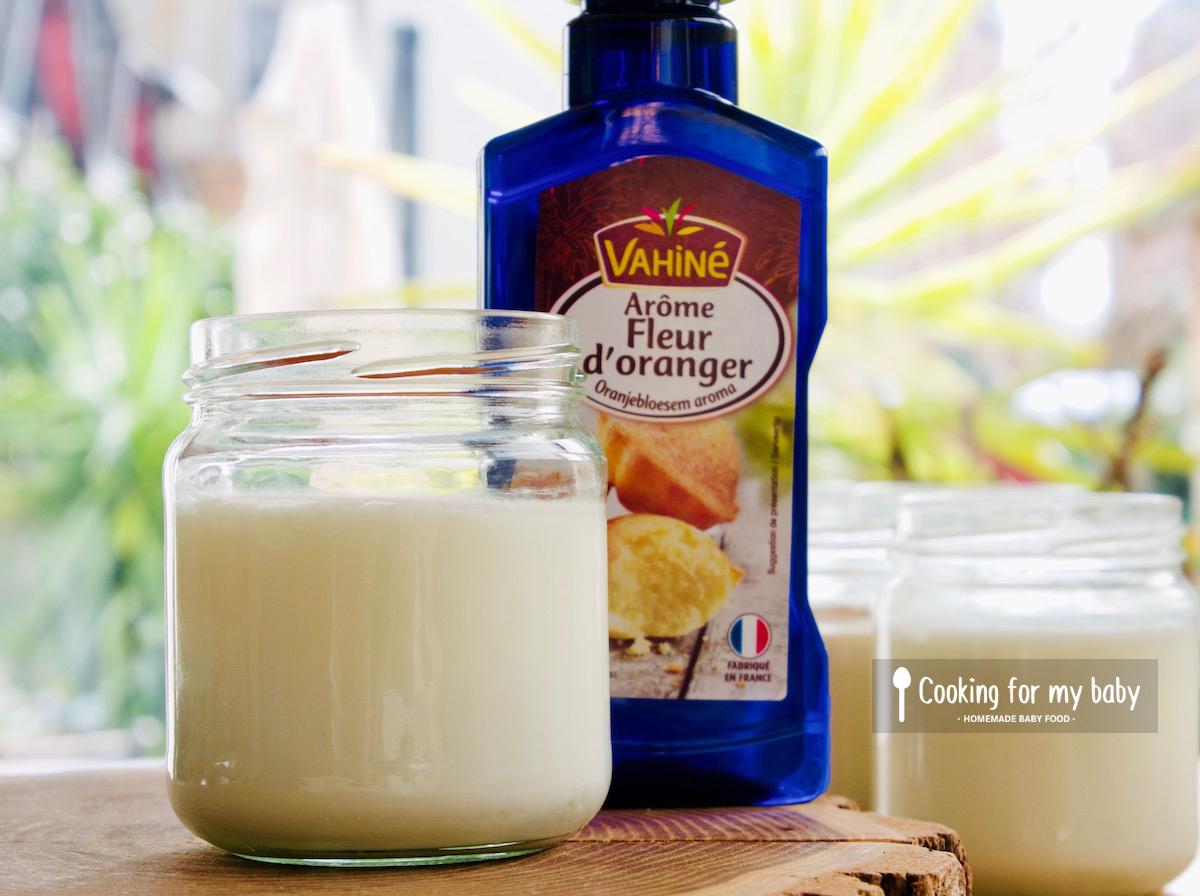 Recette de yaourt à la fleur d'oranger pour bébé (Dès 6 mois)