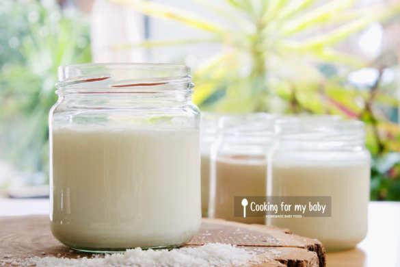 Recette de yaourt noix de coco maison pour bébé (Dès 6 mois)
