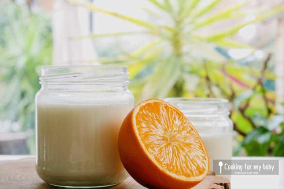 Recette de yaourt orange maison pour bébé (Dès 6 mois)