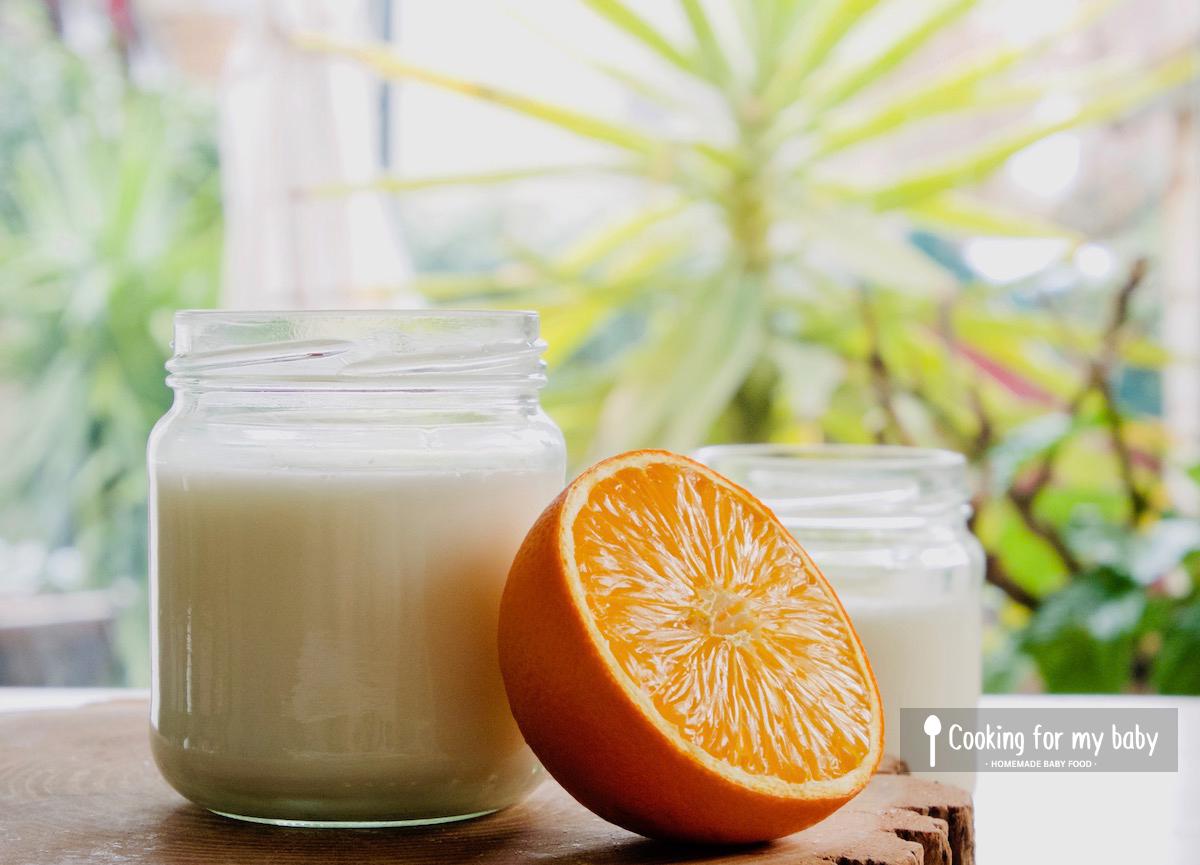 Recette de yaourt à l'orange pour bébé (Dès 6 mois)