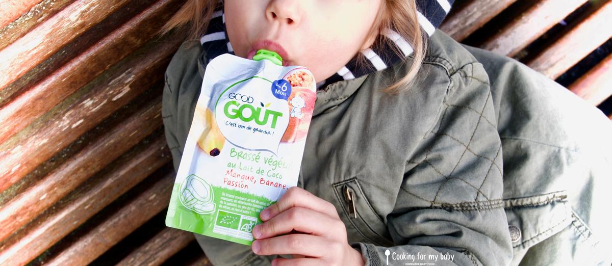 Test du brassé végétal pour les bébés de chez Good Goût