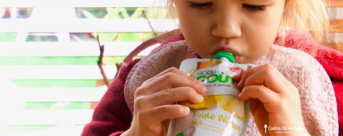 Test de la gourde de fruit pour les bébés de chez Good Goût