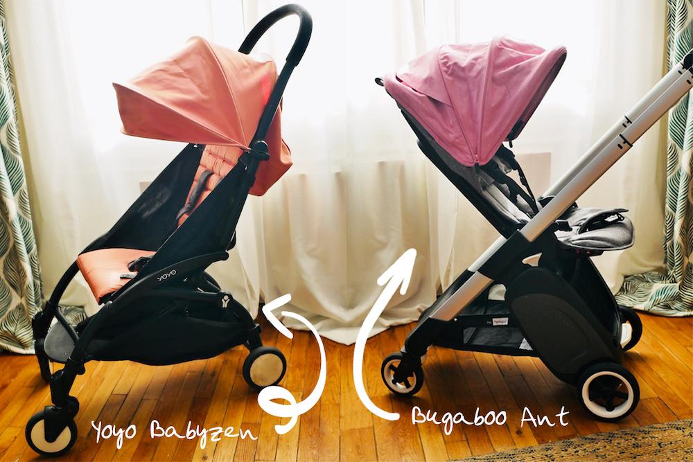 Poussette compacte : Test de la Bugaboo Ant vs Yoyo Babyzen