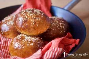 Recette de pains burgers briochés moelleux