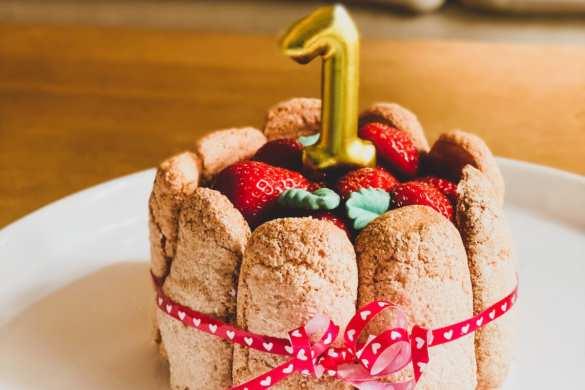 Recette de charlotte aux fraises pour l'anniversaire de bébé (Dès 12 mois)
