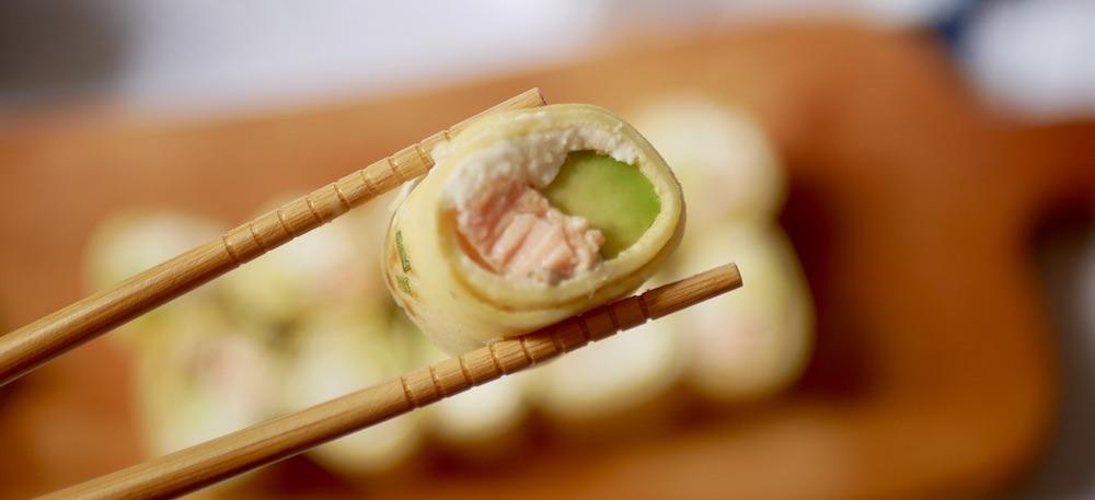 Makis cuits pour bébé avec le saumon sauvage Delpierre