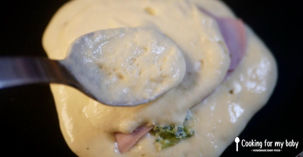 Brocolis pour pancakes salés pour bébé