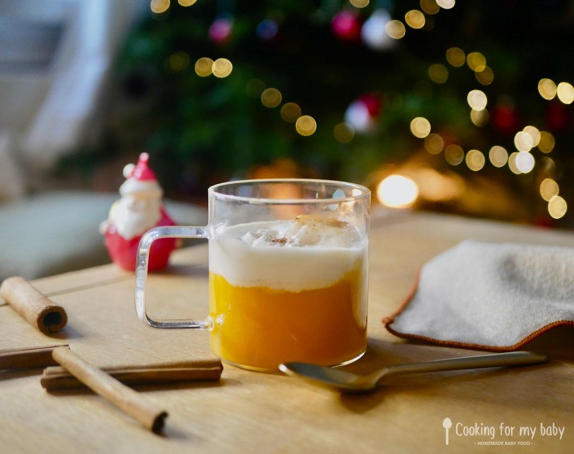 Recette de cappuccino de butternut, chantilly cannelle et noix de Saint-Jacques poêlée pour bébé (Dès 12 mois)